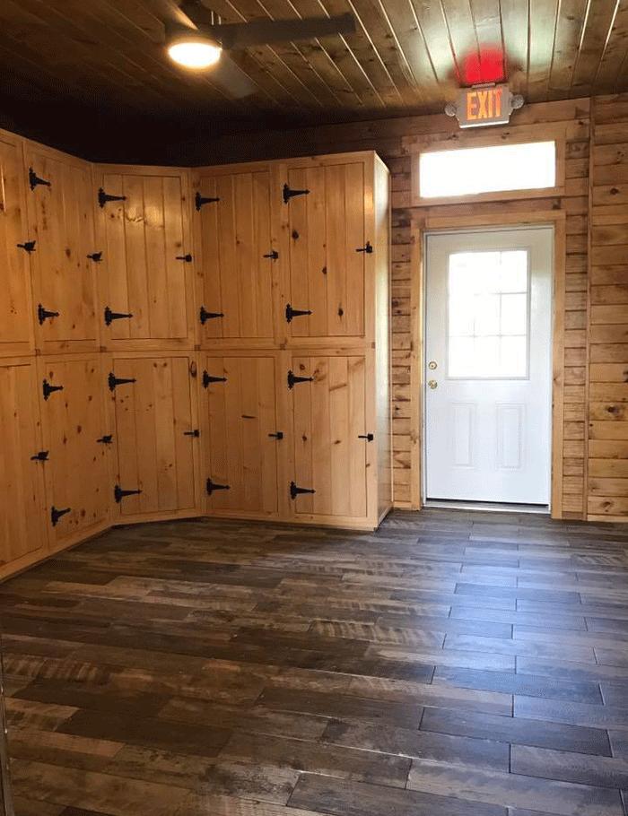 Newly Renovated Tack Room with Individual Tack Lockers